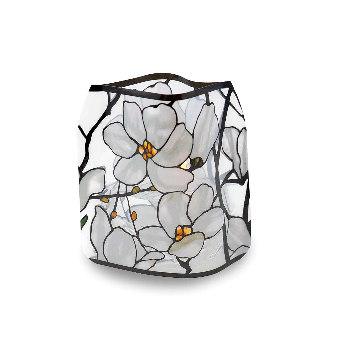 Modgy Tiffany Magnolia Window Luminary Lanterns (set of 4) | The Design Gift Shop