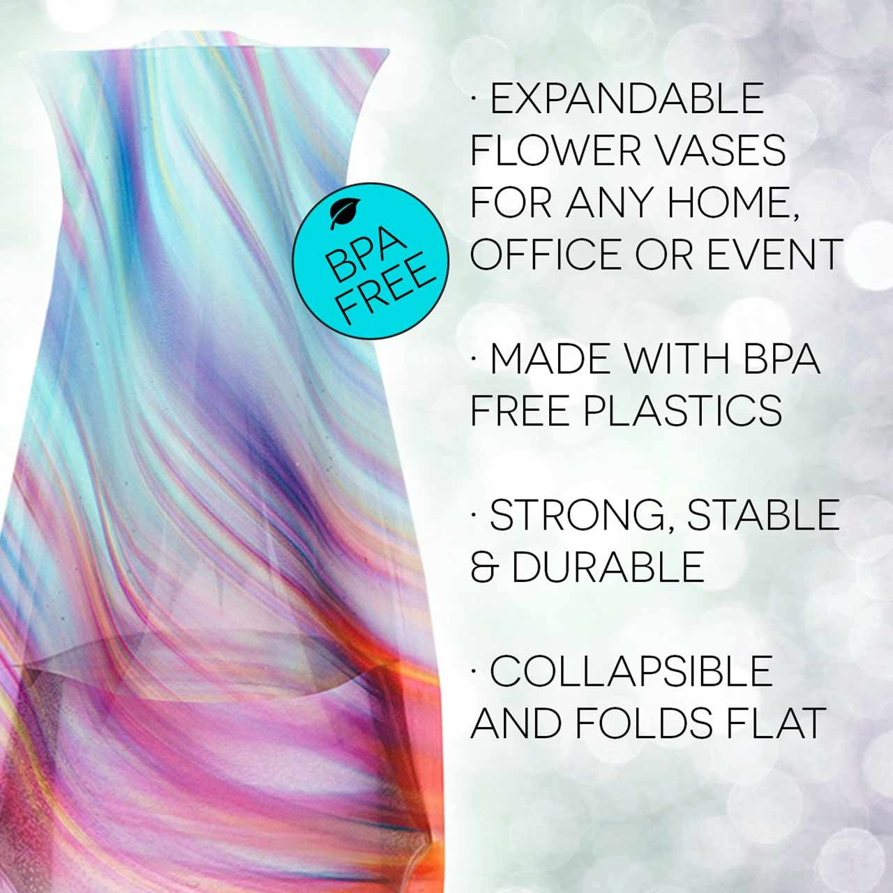 Expandable and Collapsible Vase Rize | The Design Gift Shop
