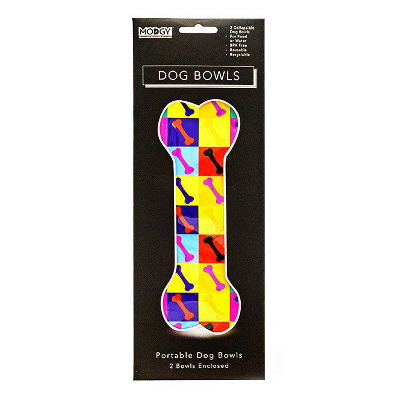 Expandable Dog Bowl Woofhol (Set of 2) | The Design Gift Shop