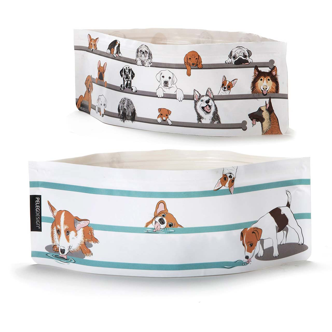 Expandable Dog Bowl Set Wuff'n'Go by Peleg | The Design Gift Shop
