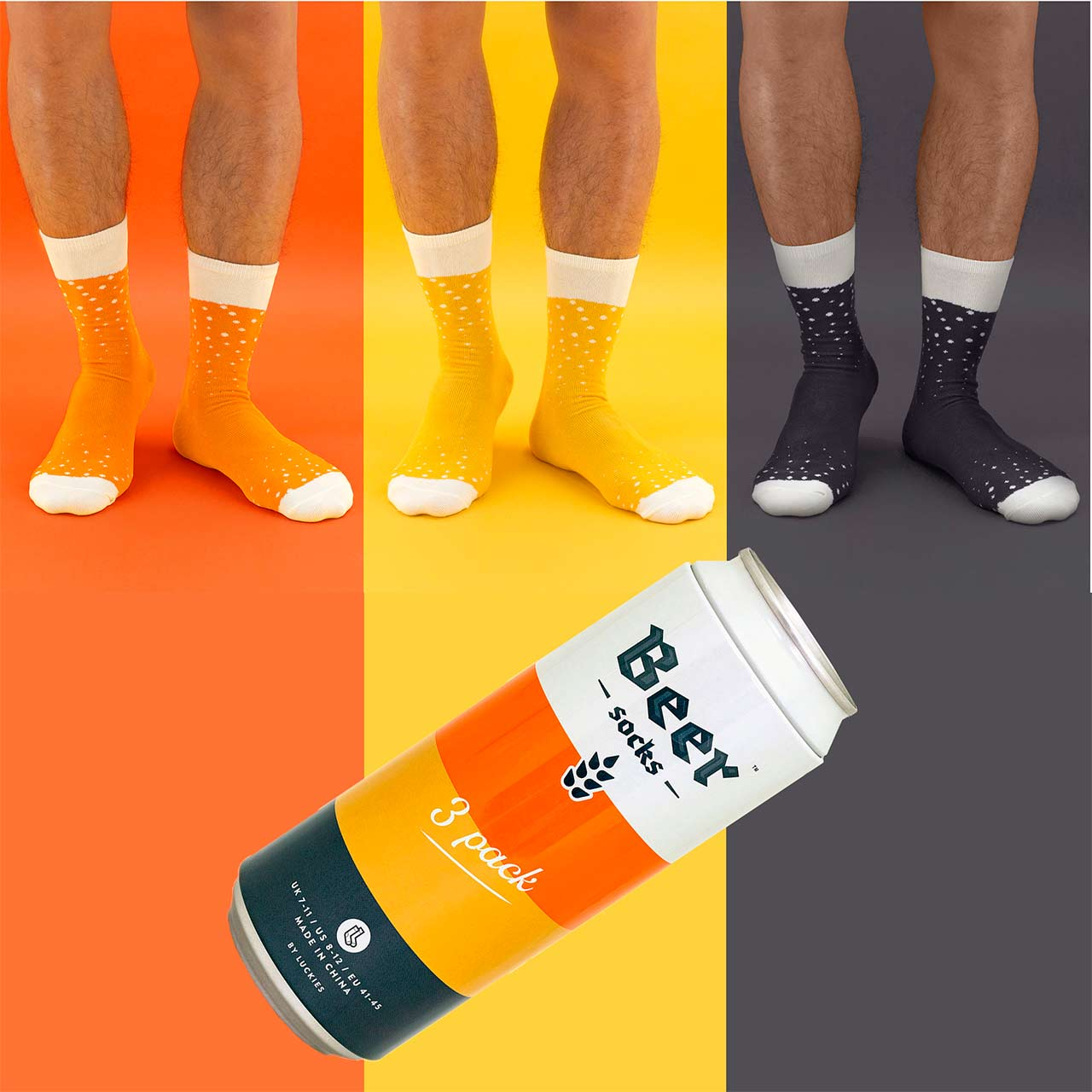 Luckies Men's Beer Socks 3 Pack | The Design Gift Shop