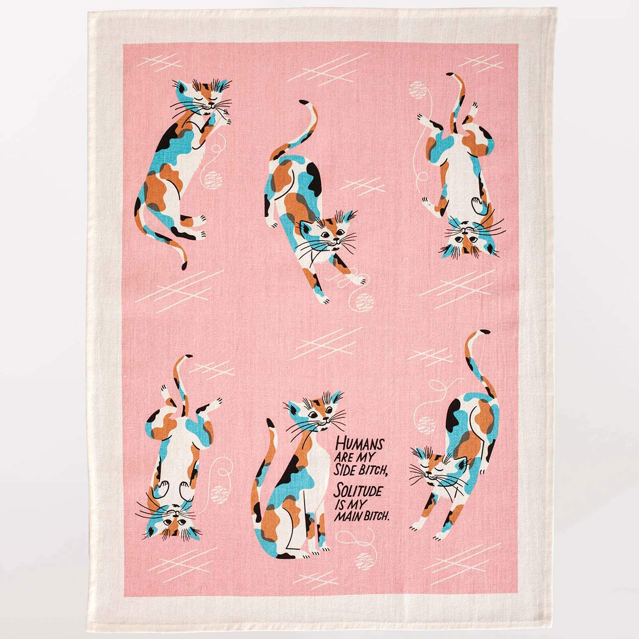 'Humans Are My Side Bitch' Dish Towel by Blue Q  | The Design Gift Shop