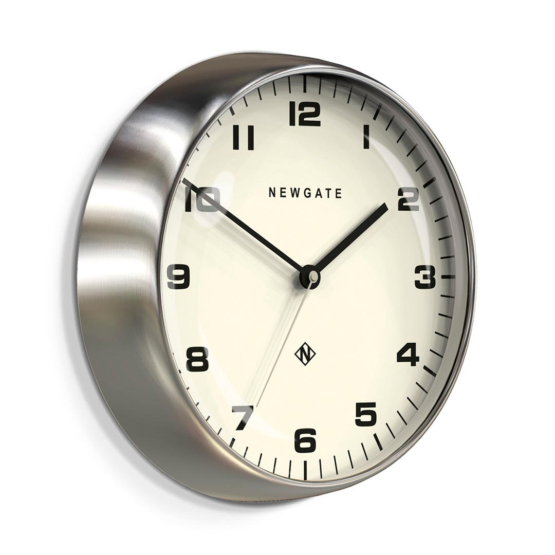 Newgate Chrysler Wall Clock Burnished Steel | the design gift shop