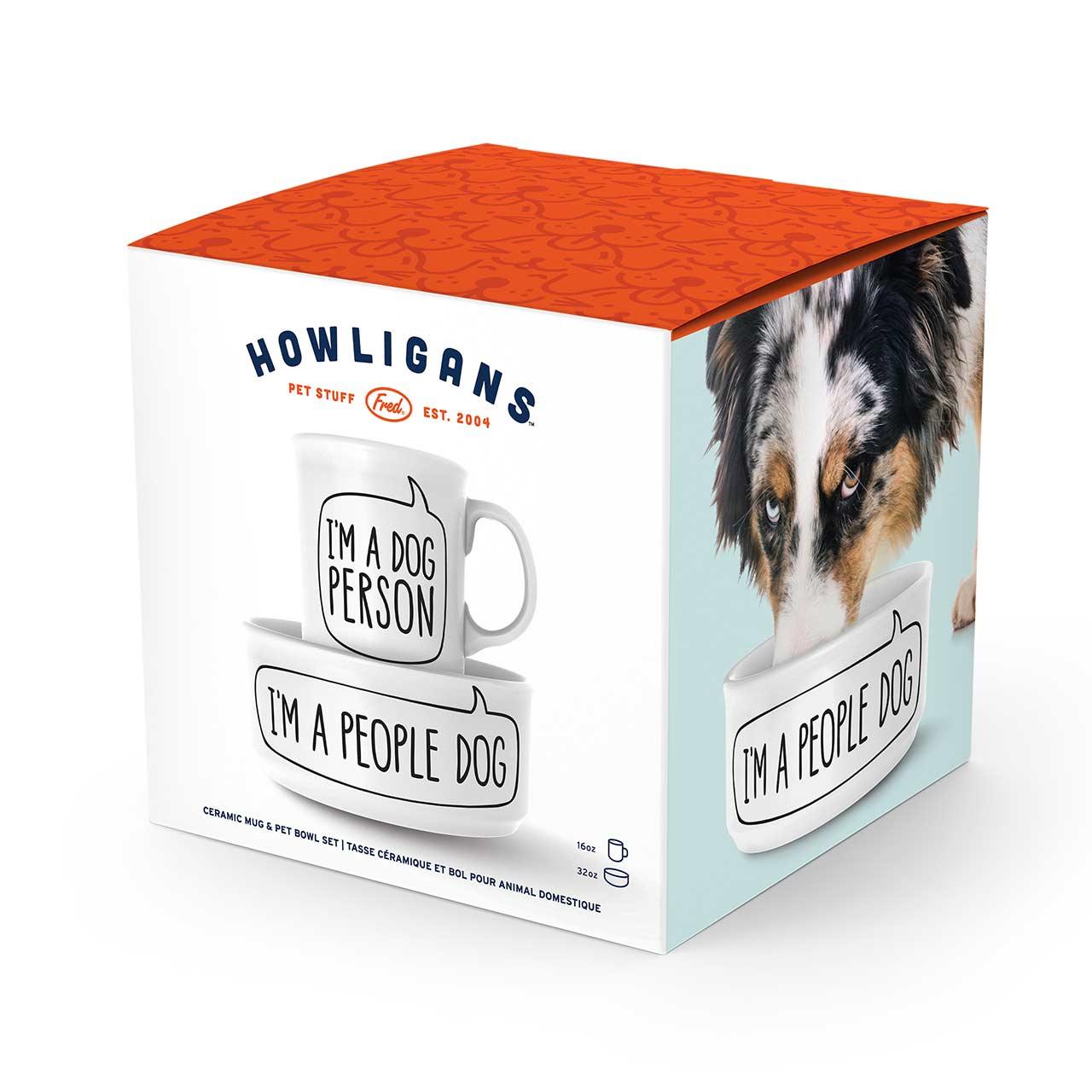 Fred Dog Person Bowl and Mug Set   The Design Gift Shop