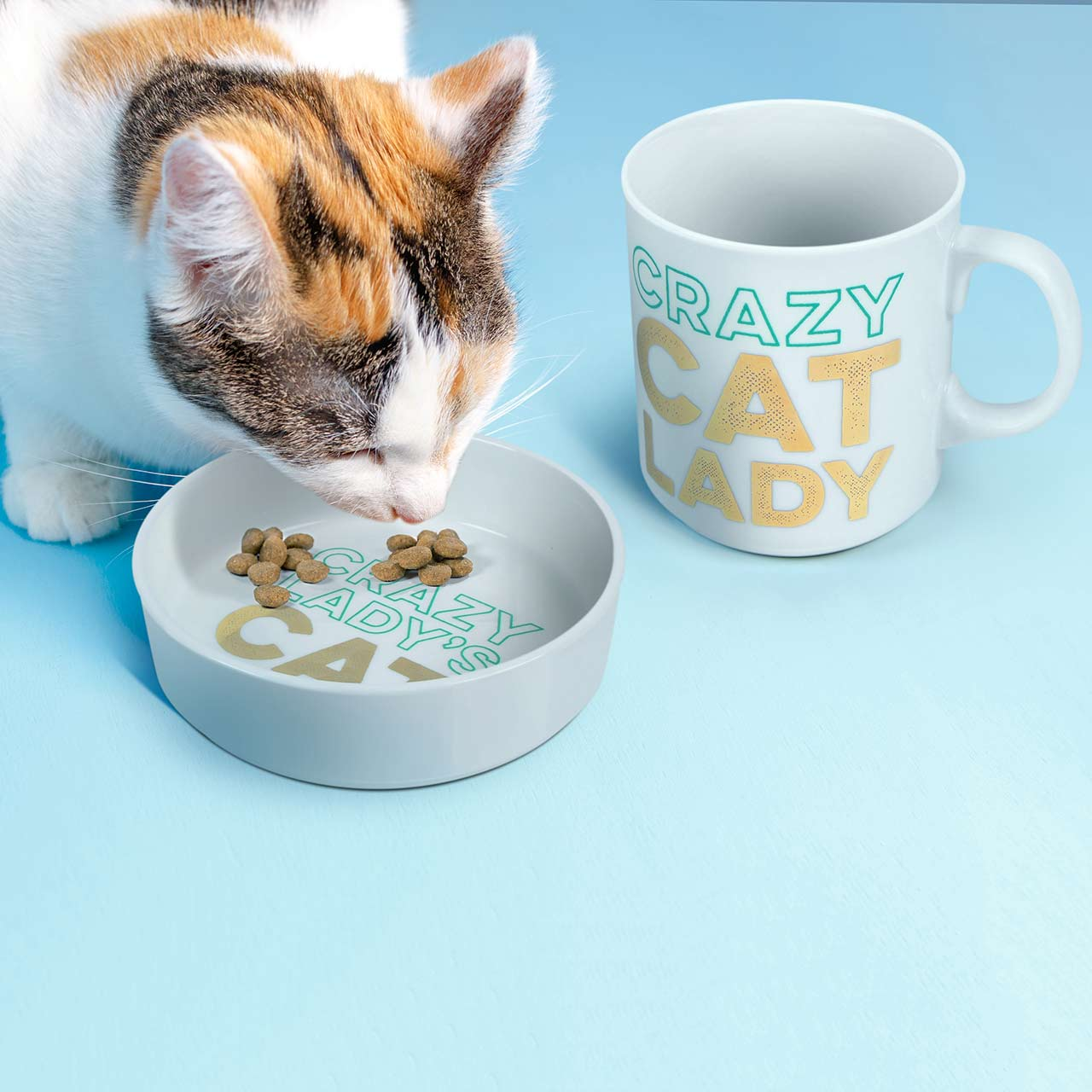 Cat Lady Bowl and Mug Set | The Design Gift Shop