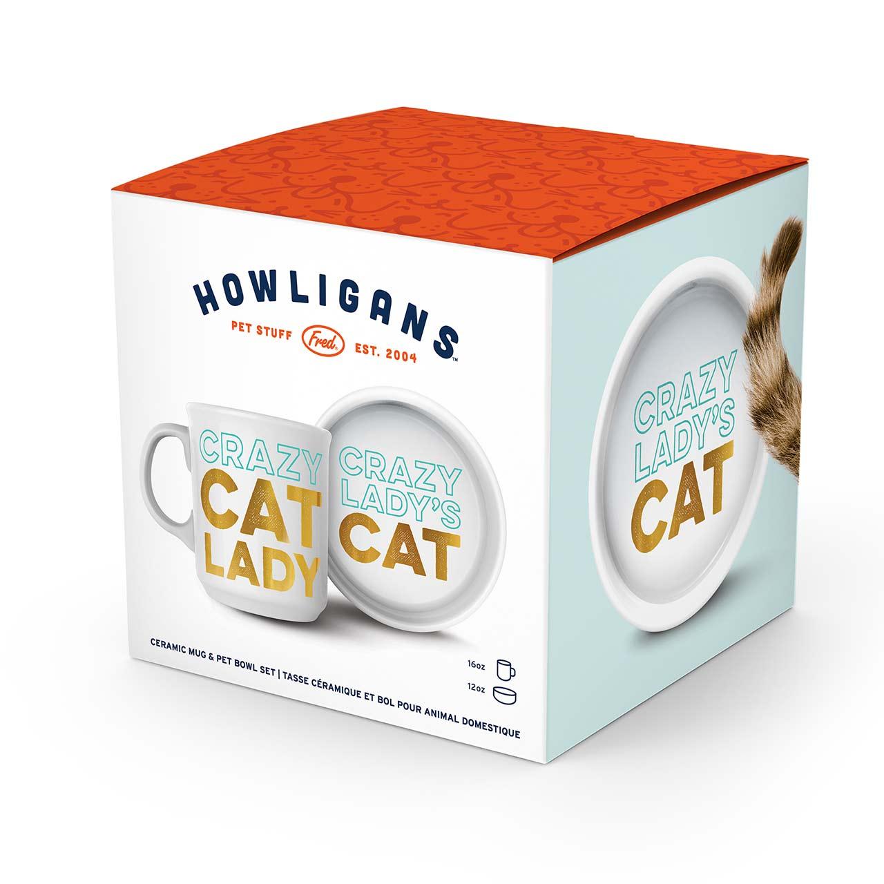 Cat Lady Bowl and Mug Set | The Design Gift Shop