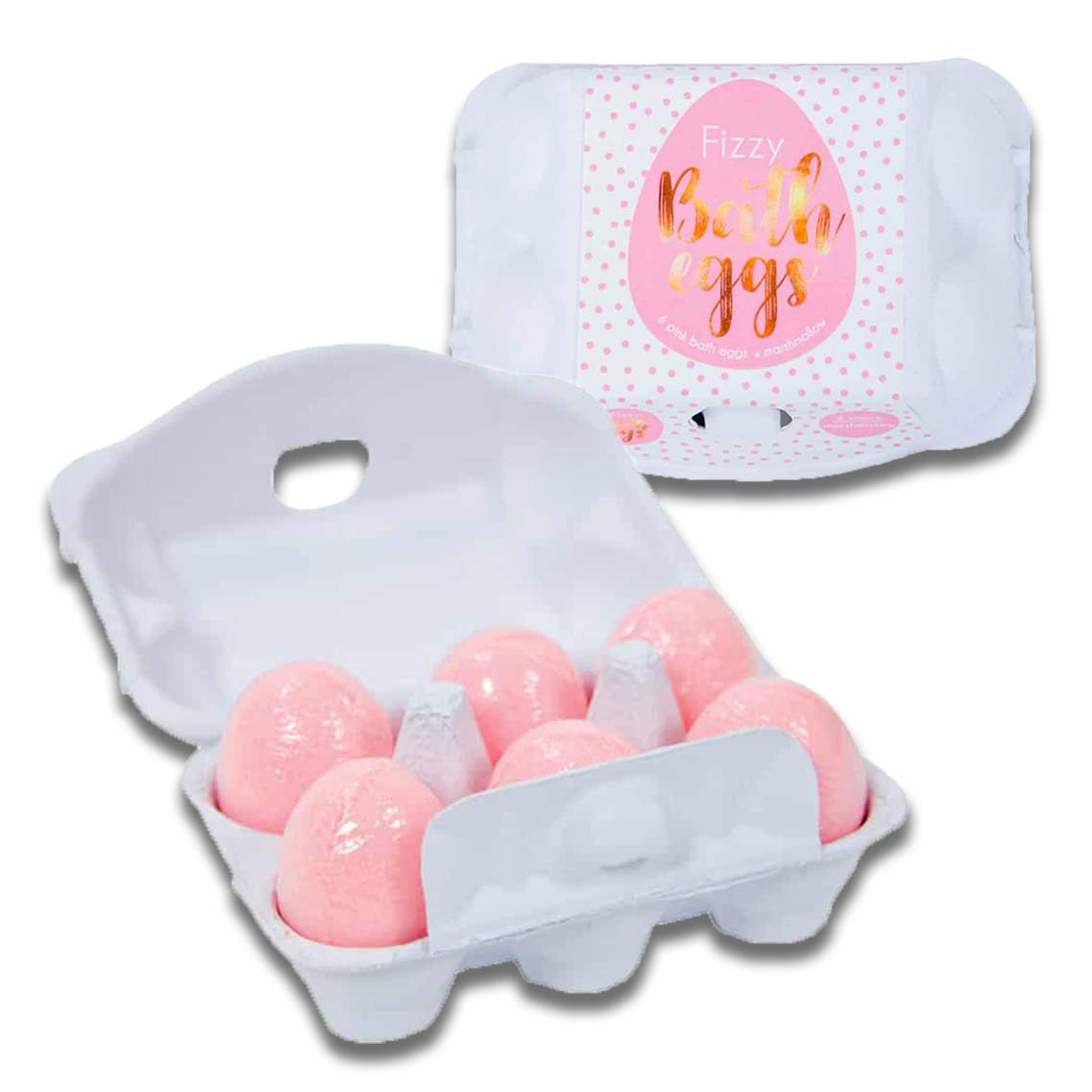 Pink Fizzy Bath Bomb Eggs Scent Marshmallow | The Design Gift Shop