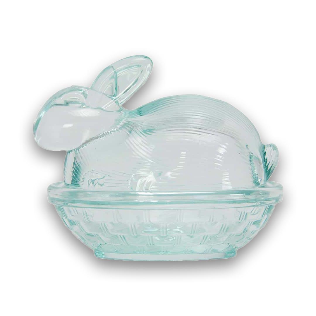Aqua Glass Easter Bunny   The Design Gift Shop