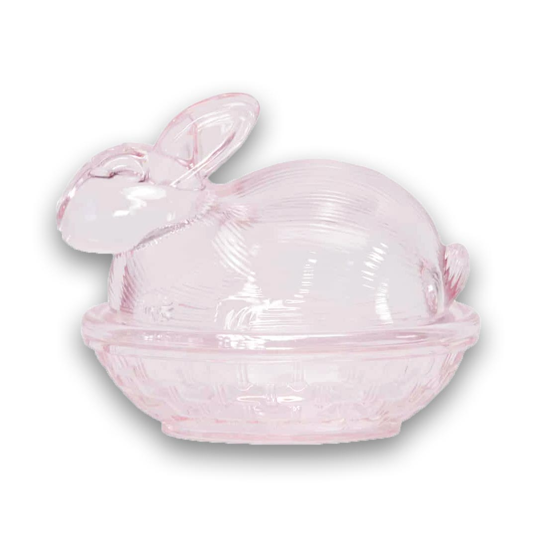 Pink Glass Easter Bunny | The Design Gift Shop