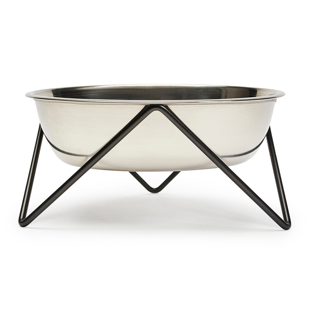 bendo luxe woof dog bowl black   The Design Gift Shop