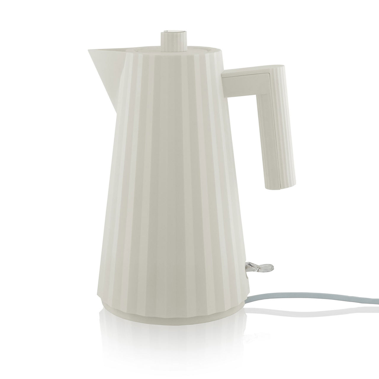 ALESSI Electric Water Kettle Plissé White | The Design Gift Shop
