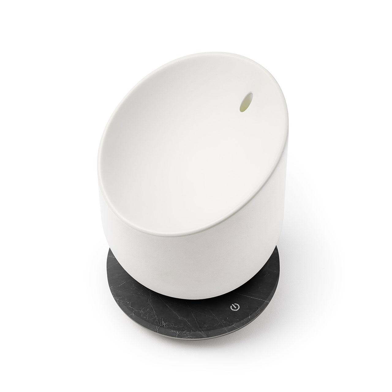 LEXON Miami Scent Aroma Diffuser Gunmetal/Black Marble| The Design Gift Shop