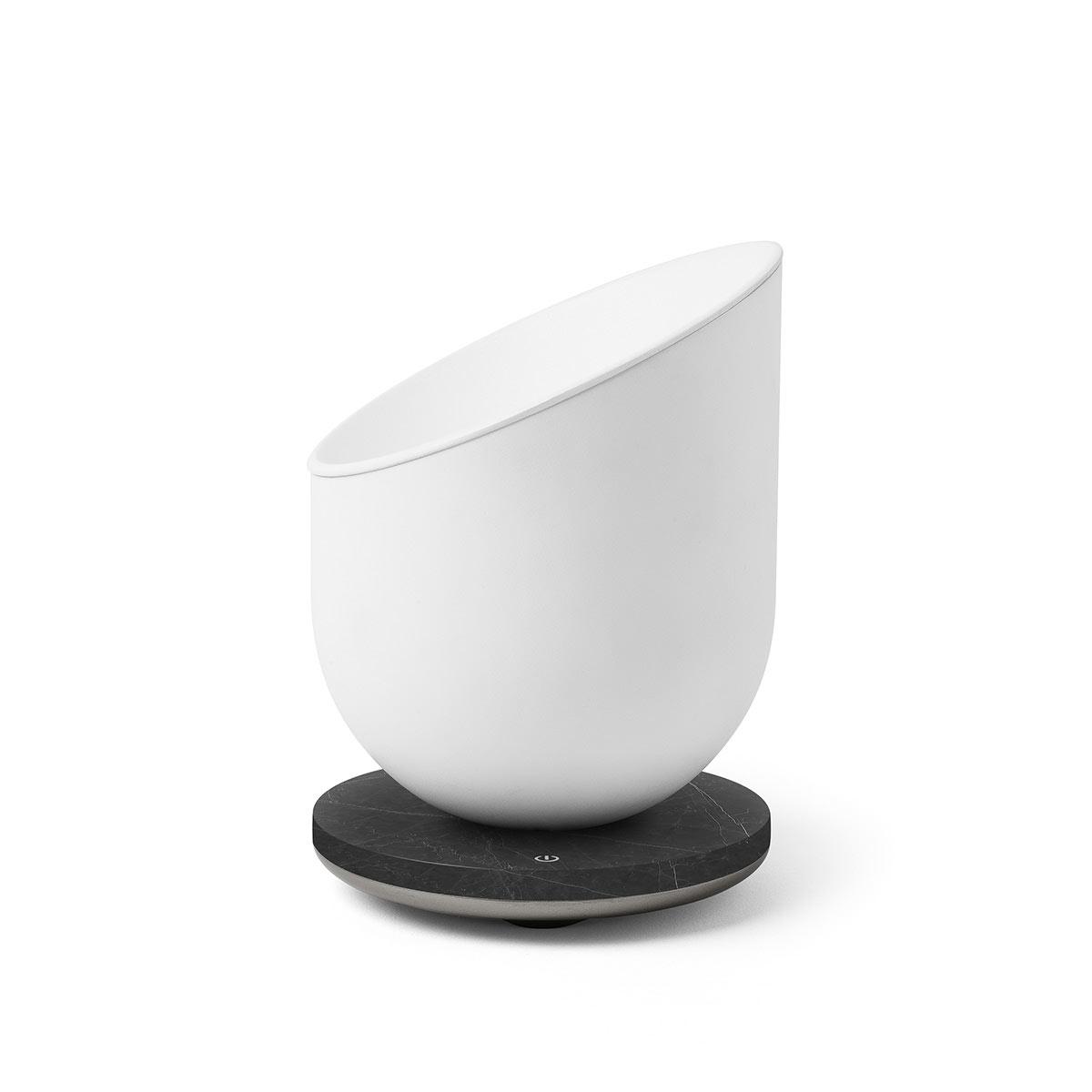 LEXON Miami Scent Aroma Diffuser Gunmetal/Black Marble | the design gift shop