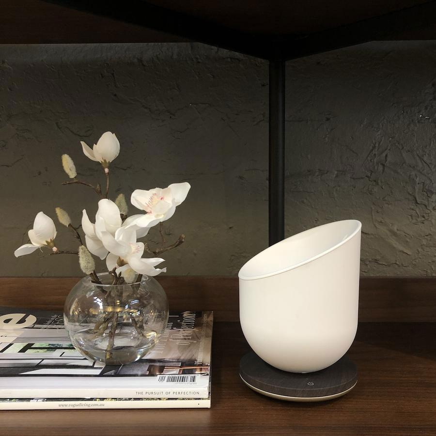 LEXON Miami Scent Aroma Diffuser Rose Gold/Wood | the design gift shop