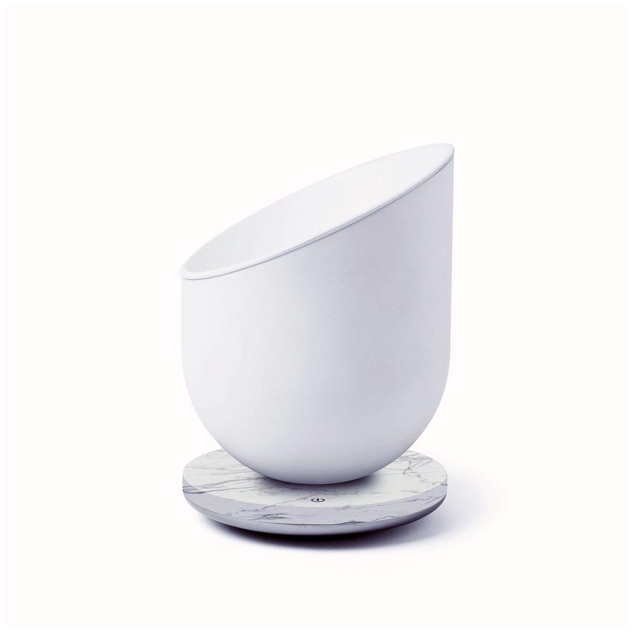 LEXON Miami Scent Aroma Diffuser Alu/White Marble   the design gift shop