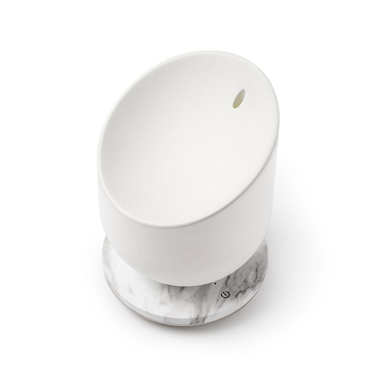 LEXON Miami Scent Aroma Diffuser Alu/White Marble | the design gift shop