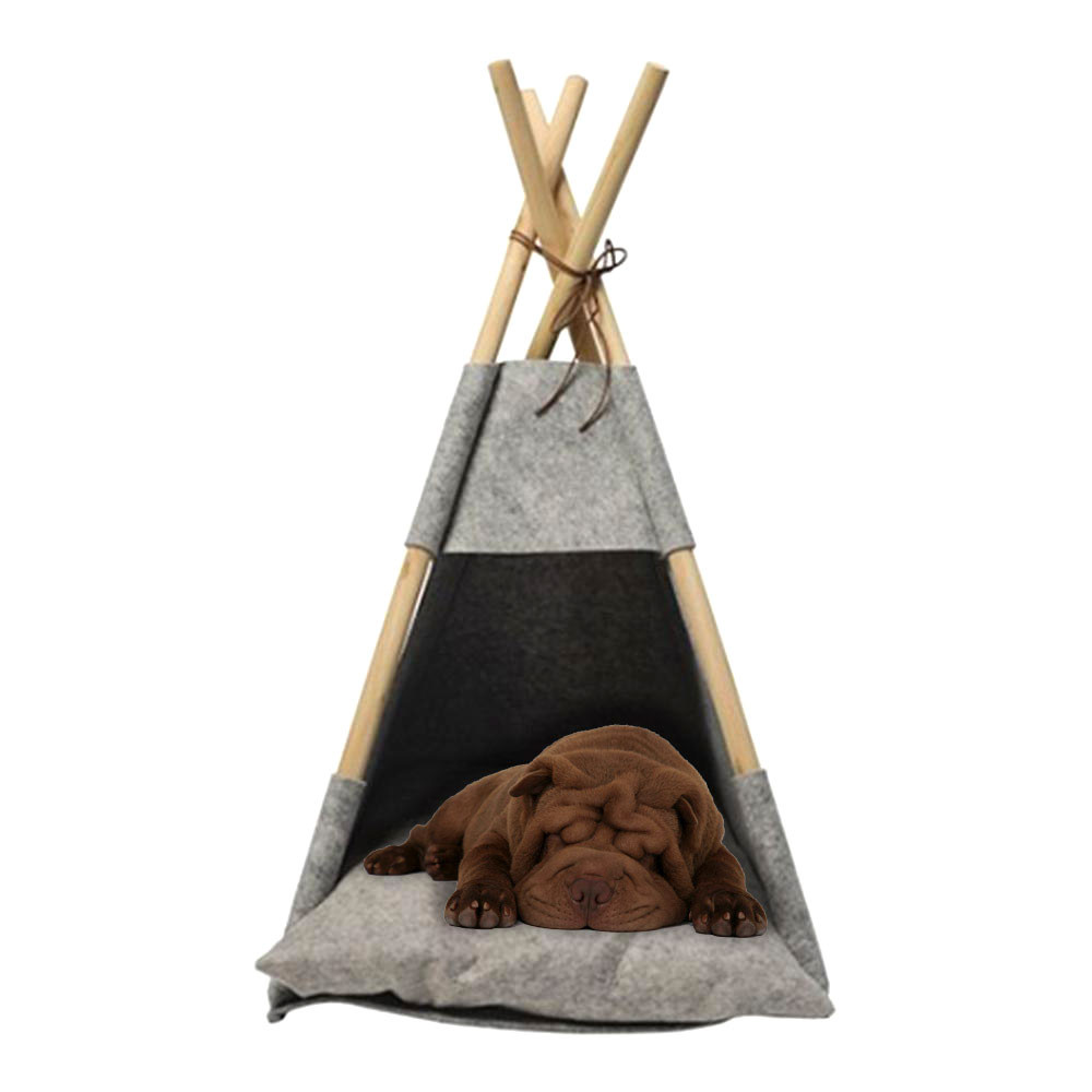 Annabel Trends Pet Teepee Grey Felt | The Design Gift Shop