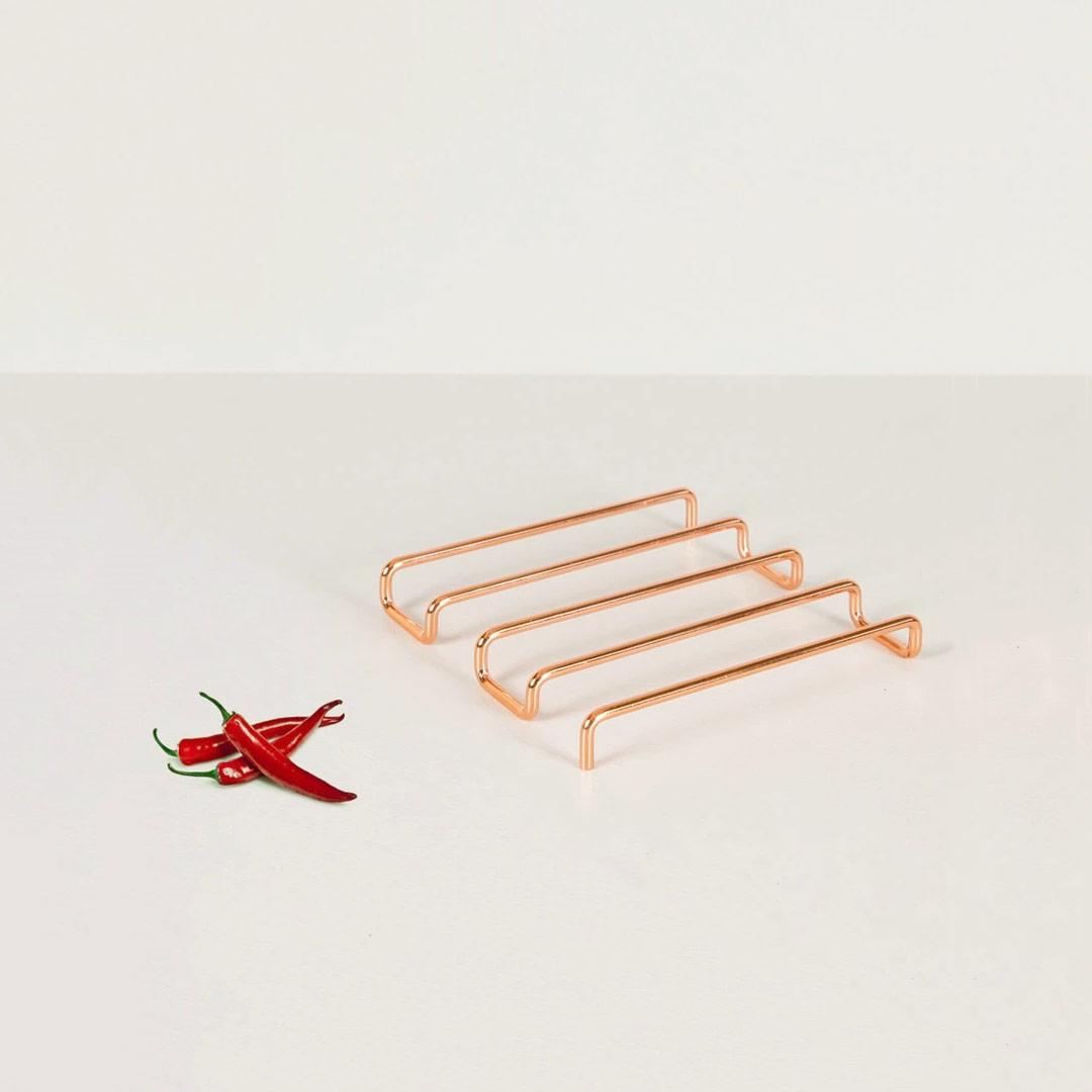 Minimalist Design Bendo Luxe Copper Trivet HOT | The Design Gift Shop
