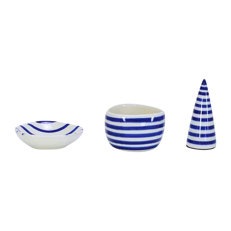 ANNABEL TRENDS Blue Greek Style Ceramic Jewellery Set | the design gift shop
