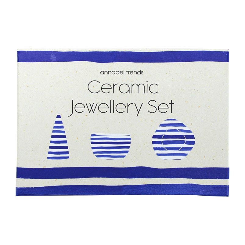 ANNABEL TRENDS Blue Greek Style Ceramic Jewellery Set   the design gift shop