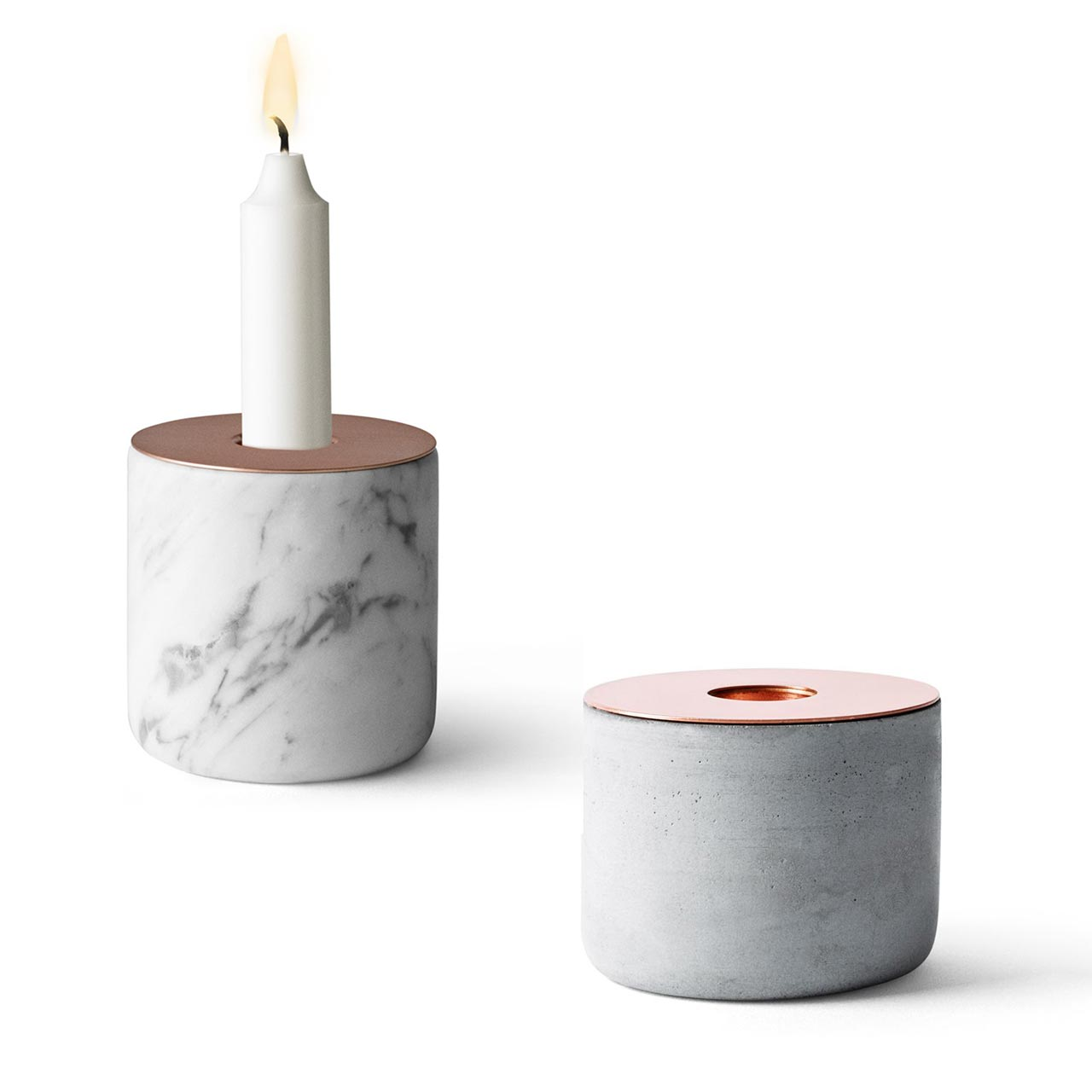 Menu Chunk of Concrete Candle Holder M (Chung Marble not part of offer) | the design gift shop