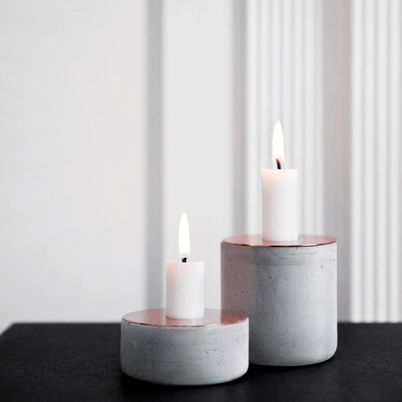 Menu Chunk of Concrete Candle Holder (M & L) | the design gift shop