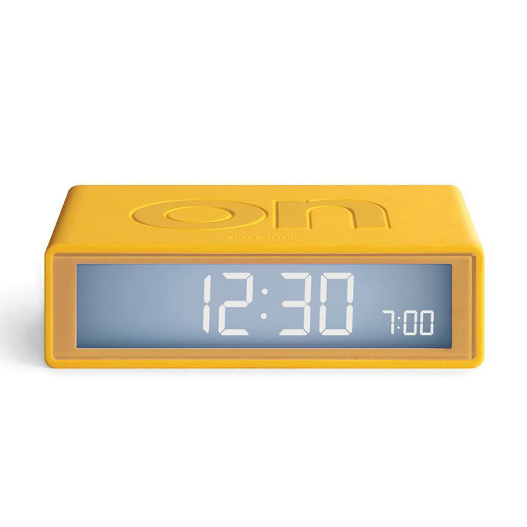 LEXON Flip+ LCD alarm clock LR150J8 yellow | the design gift shop