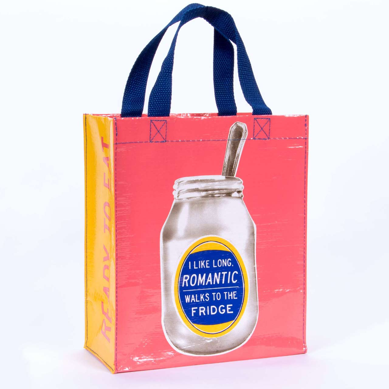 'I like long romantic walks to the fridge' Hand Tote by Blue Q  | the design gift shop