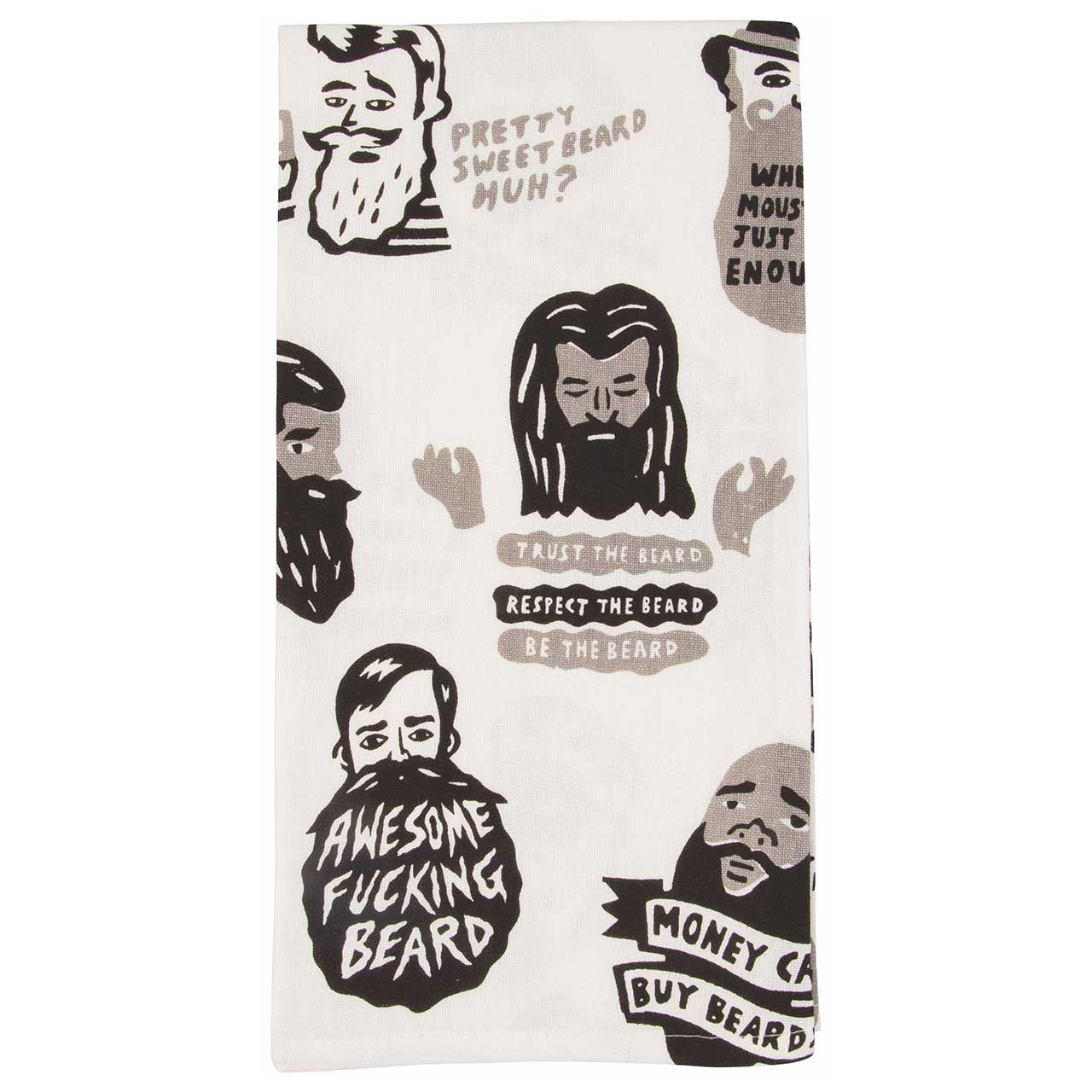 'Awesome F*ucking Beard' Dish Towel by Blue Q    the design gift shop