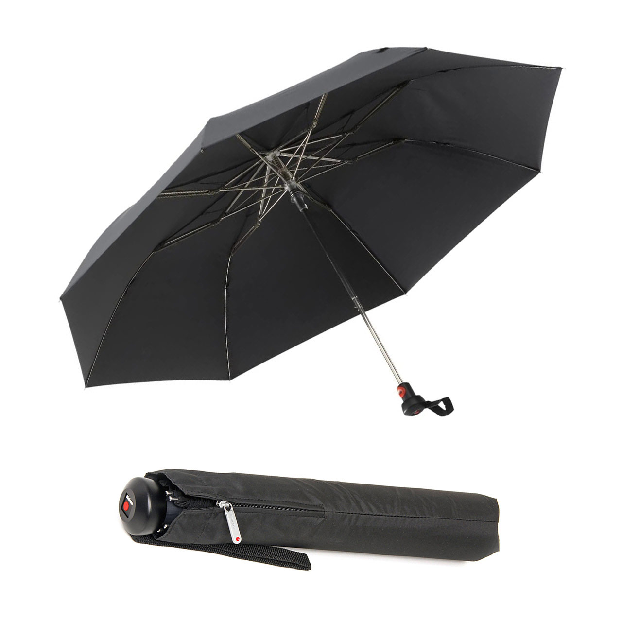 KNIRPS pocket umbrella Topmatic SL 826 Black   the design gift shop