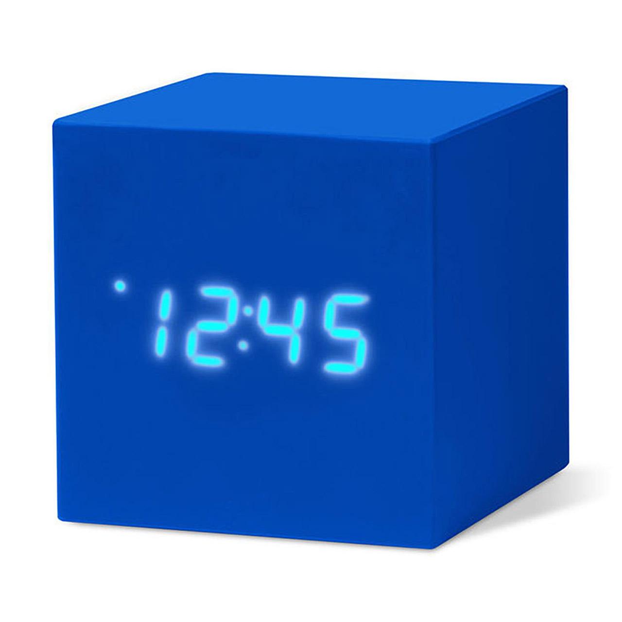 MoMA cube click clock blue / white LED | the design gift shop