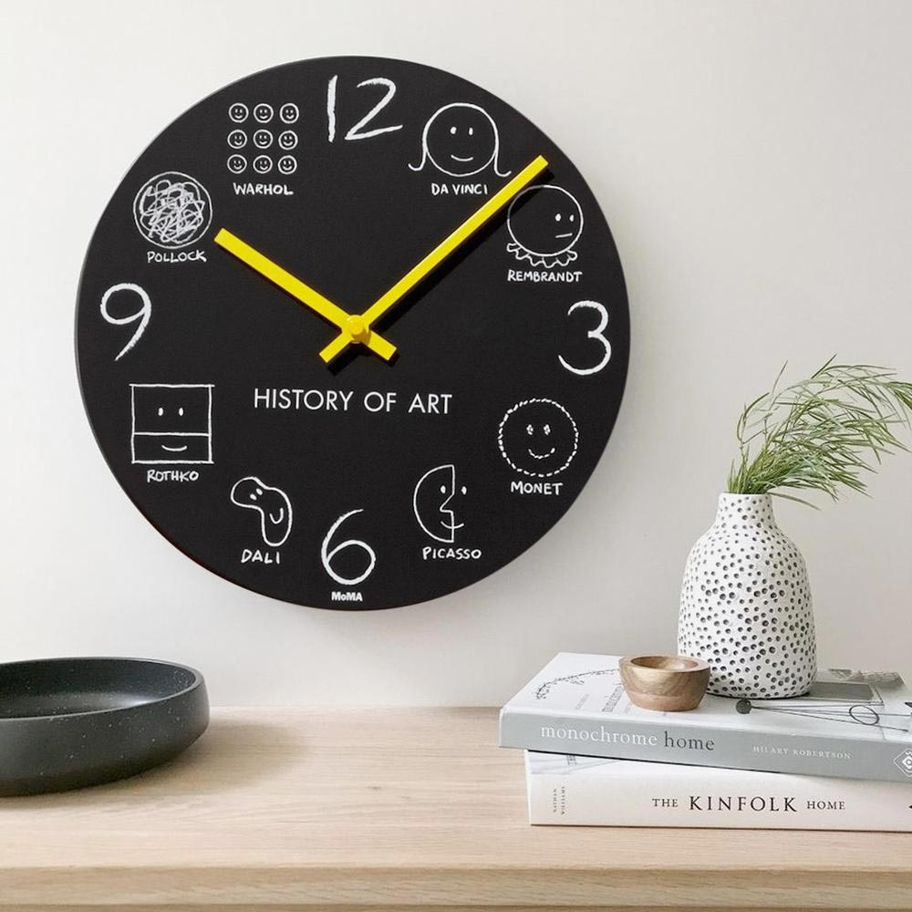 MoMA History of Art wall clock   the design gift shop