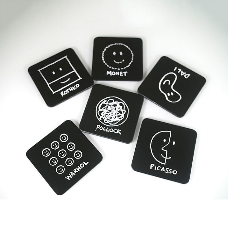 MoMA History of Art Coasters Set of 6 | the design gift shop