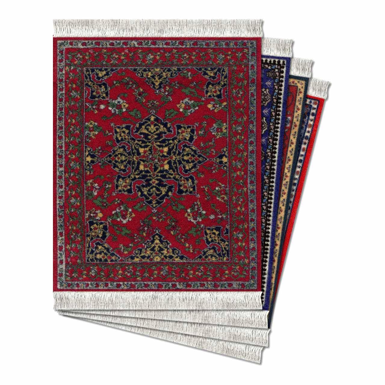 CoasterRug Carpet Coaster Oriental Set of 4 | the design gift shop