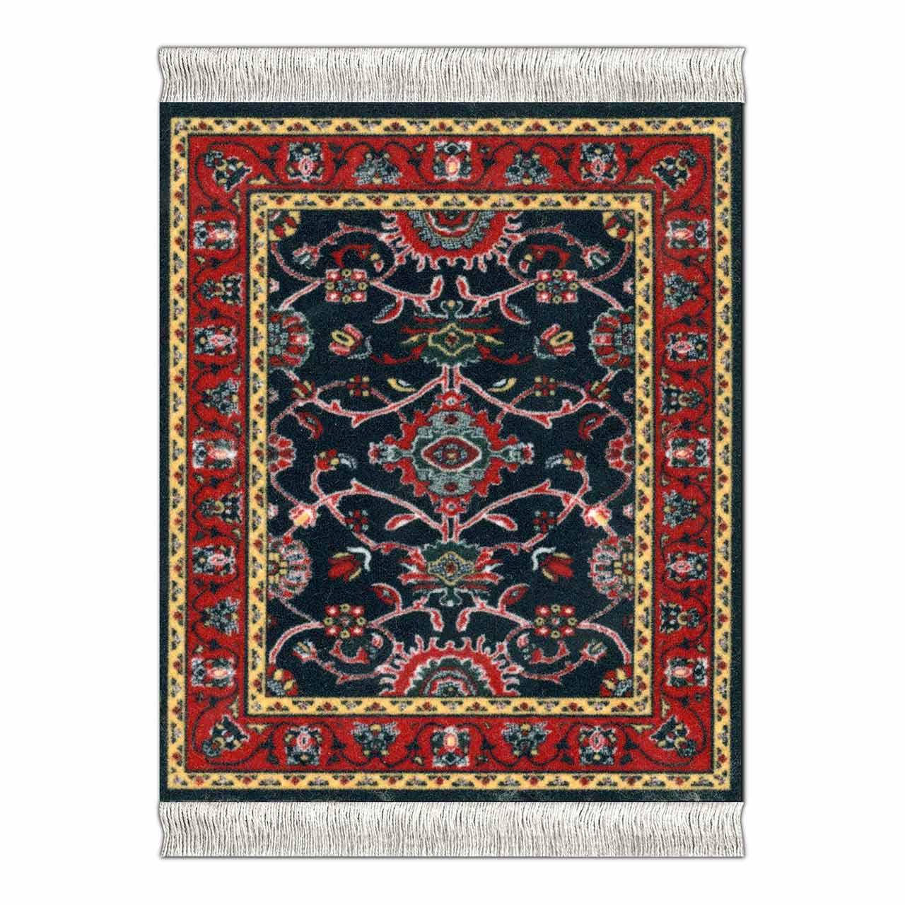 CoasterRug Deep Blue Bergamo Carpet Coaster | the design gift shop