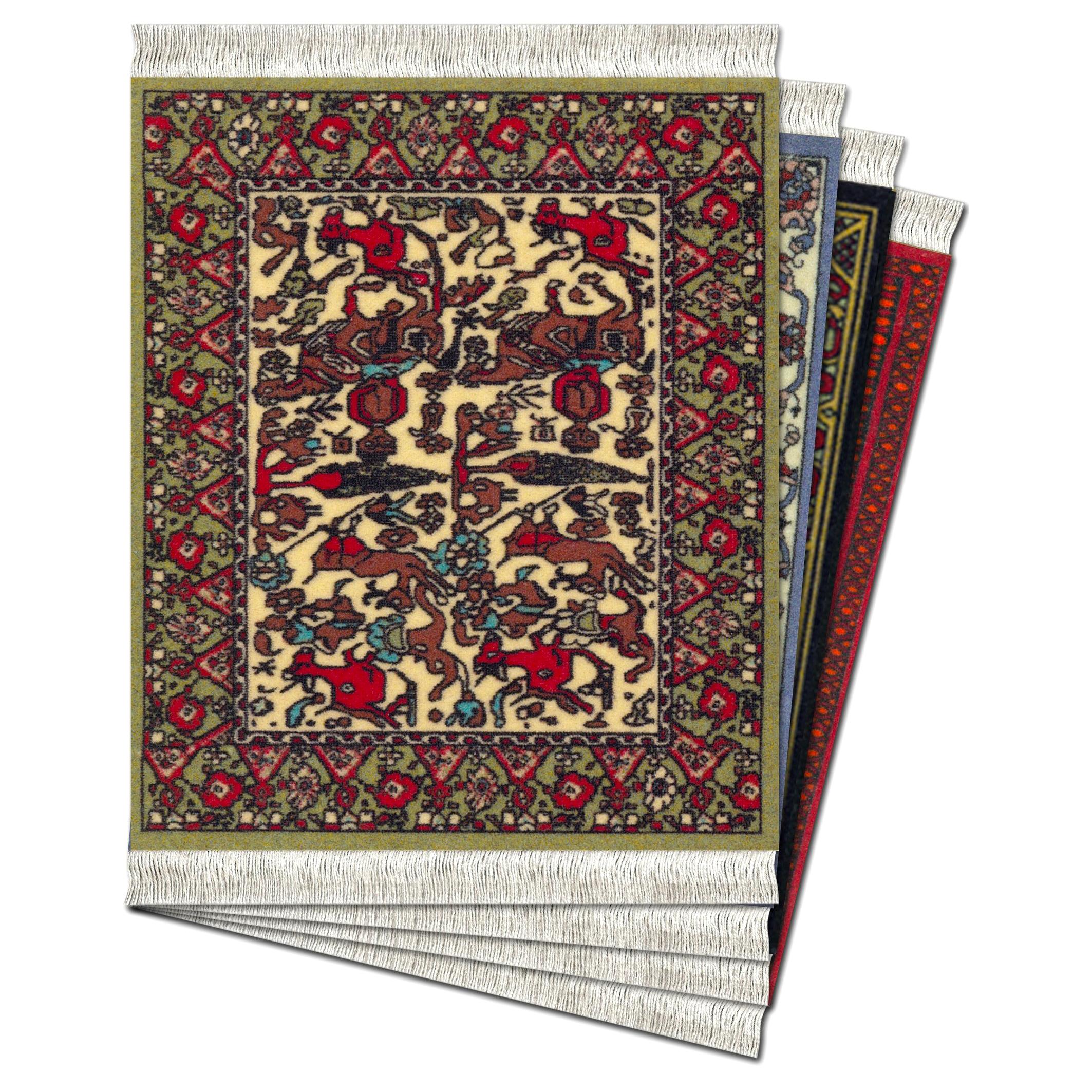 CoasterRug Carpet International Collection Coaster Set of 4 | the design gift shop