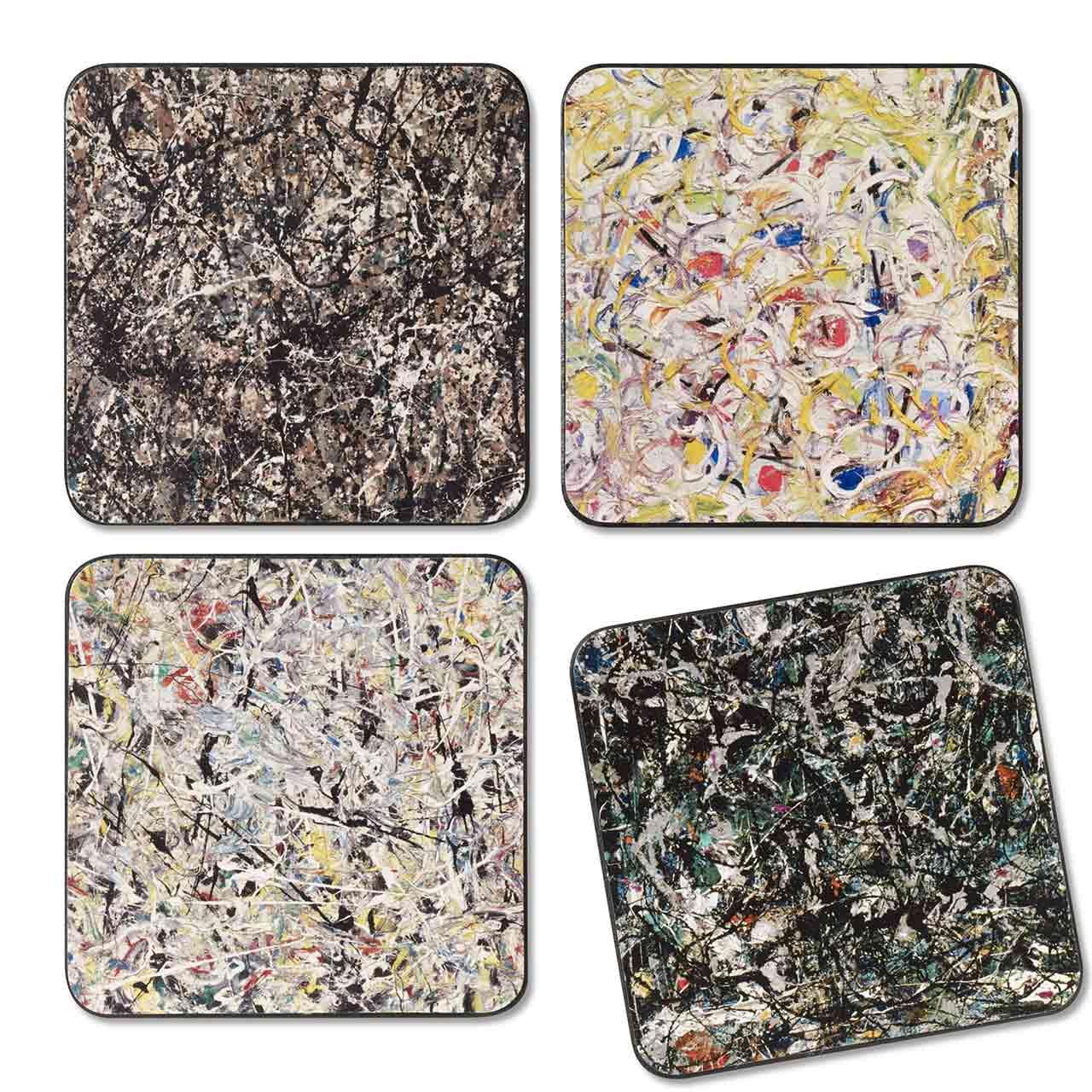 MoMA Jackson Pollock Coasters Set of 4 | the design gift shop
