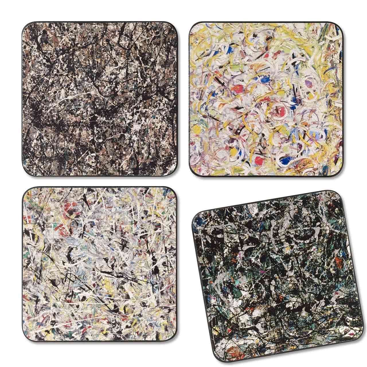 MoMA Jackson Pollock Coasters Set of 4 | the design gift shop
