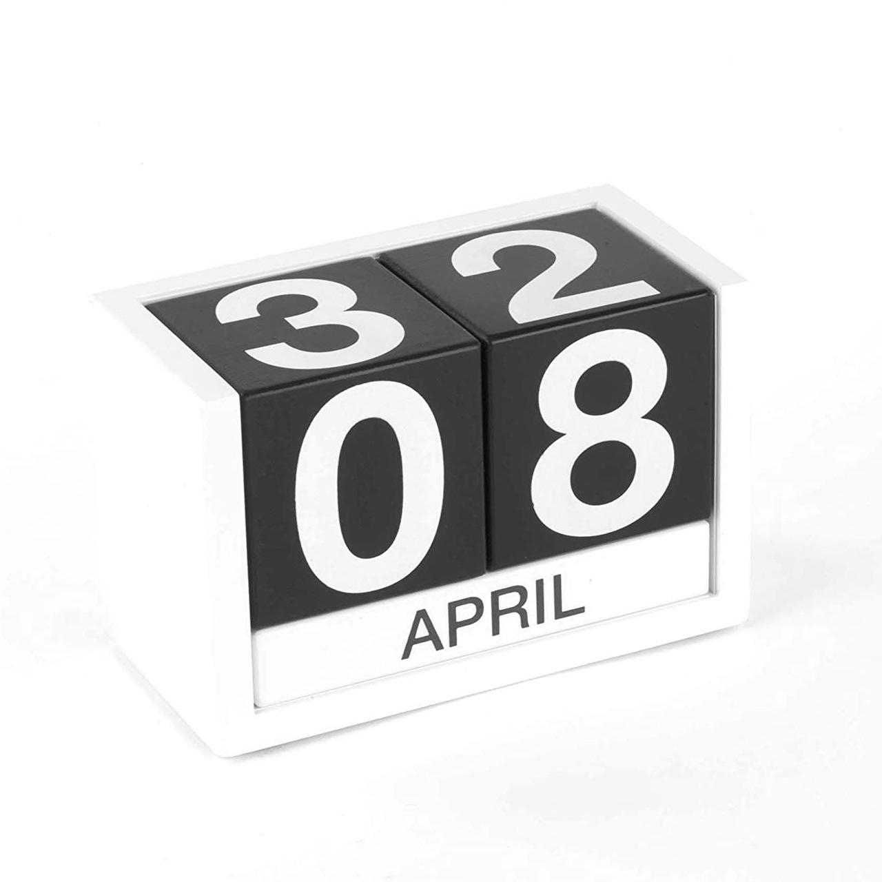 DESIGN IDEAS ThreeSixFive Perpetual Calendar Black   the design gift shop