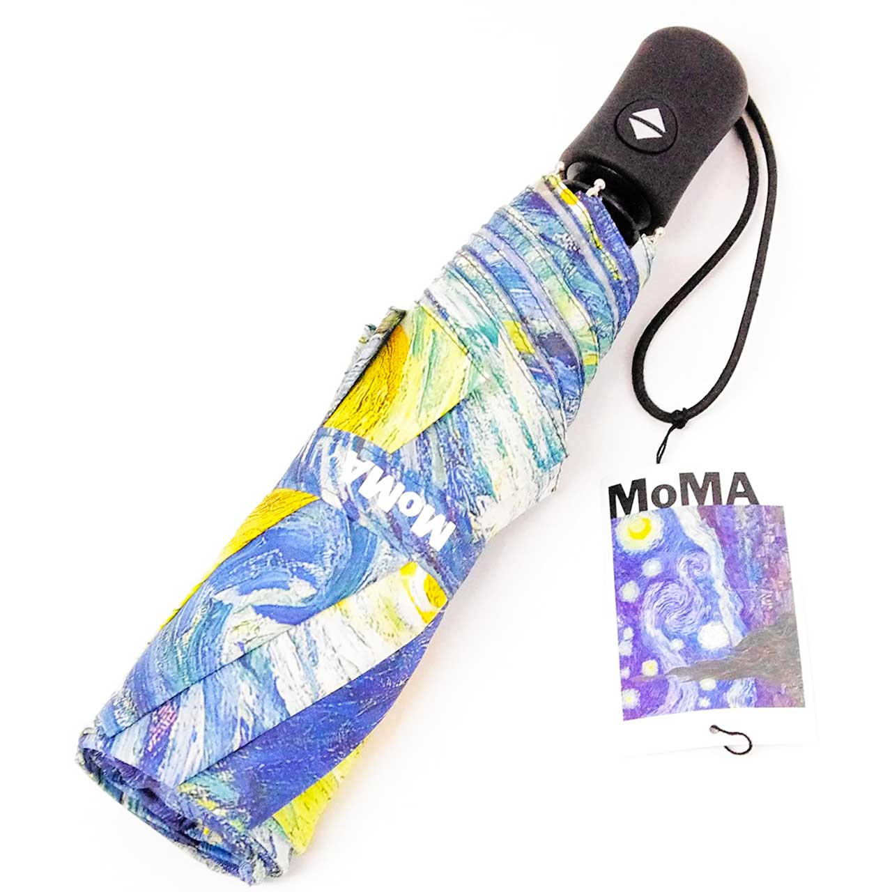 MoMa Starry Night Umbrella Collapsible   the design gift shop