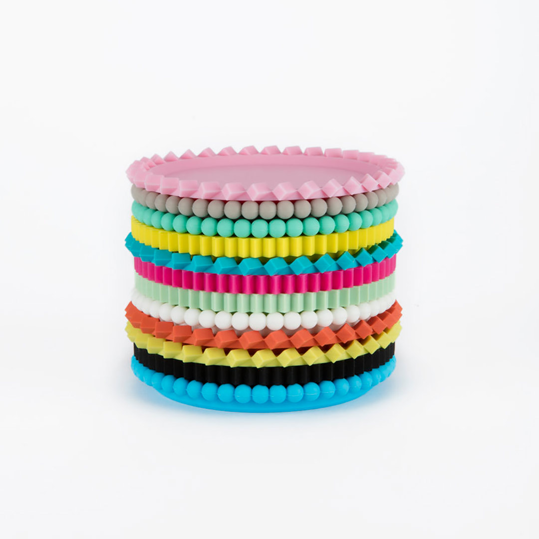MoMA Geo Stacking Coasters (Set of 6) Primary Colours | the design gift shop