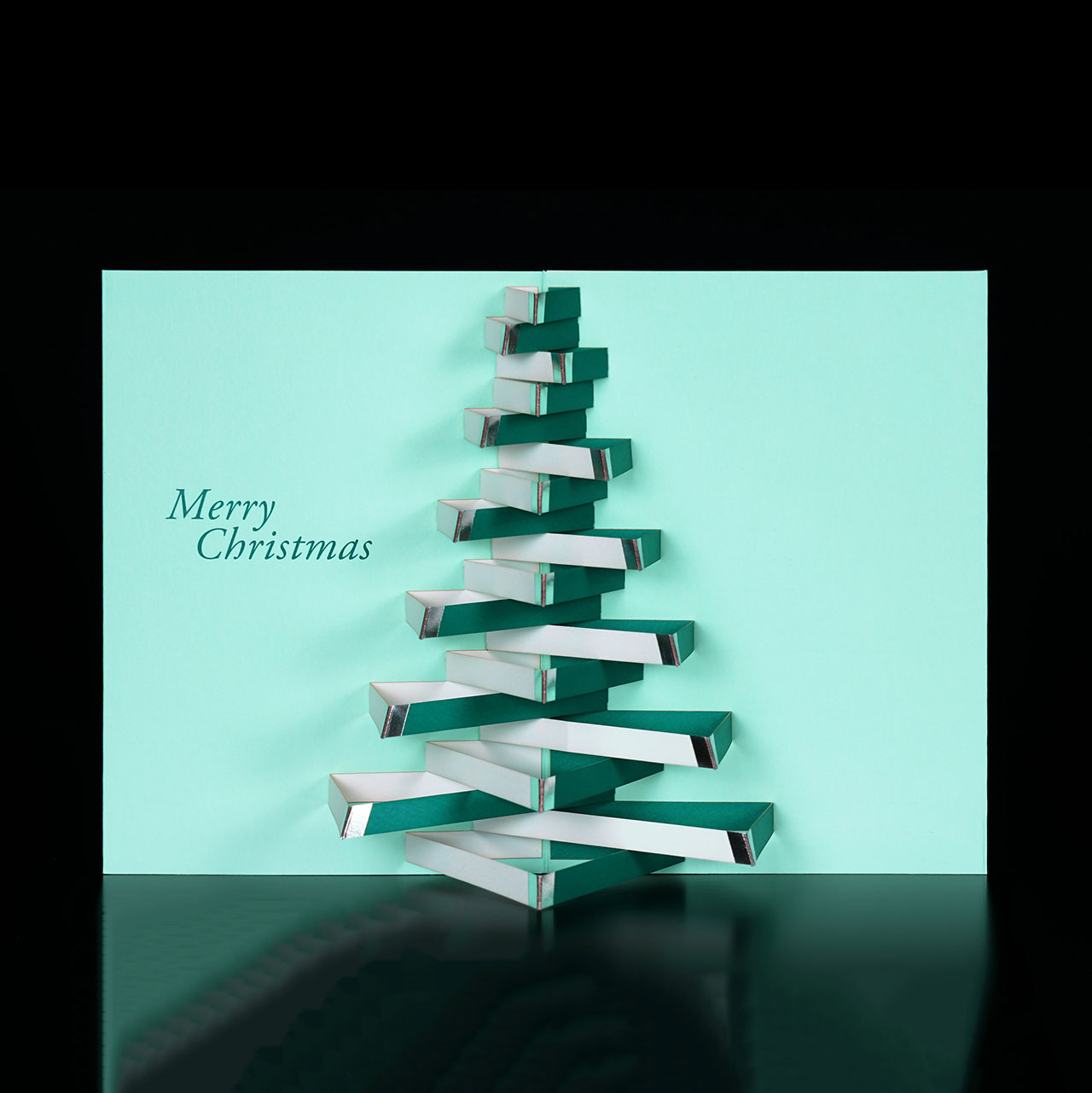 MoMA Pop-Up Holiday Cards Modern Tree Set of 8   the design gift shop