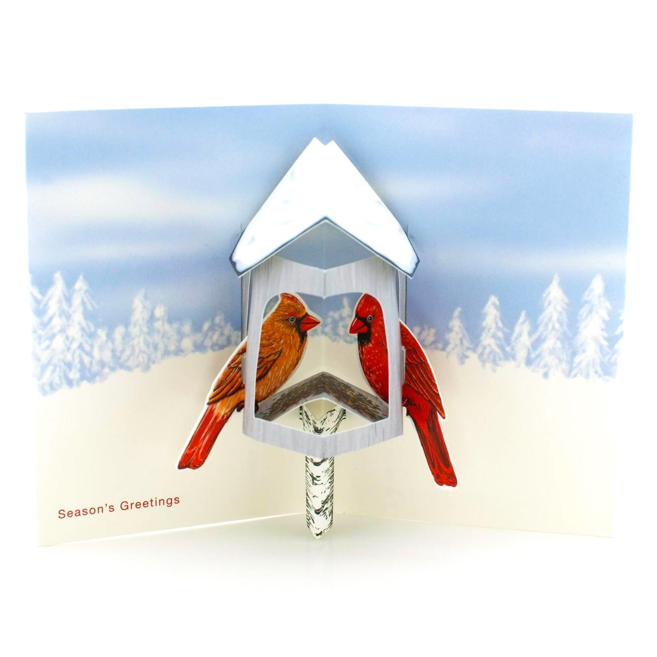MoMA Pop-Up Holiday Cards Winter Cardinals, Set of 8 | the design gift shop