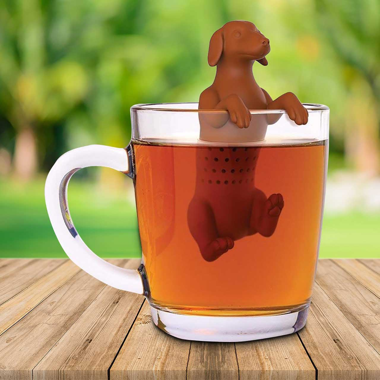 FRED Hot Dog Dachshund Tea Infuser | the design gift shop