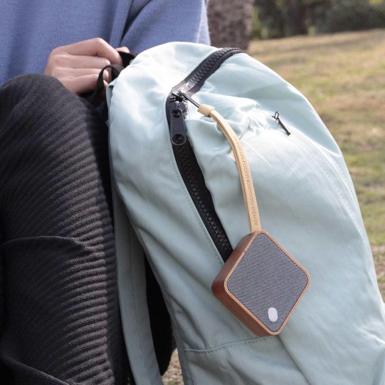 GINGKO Mi Square Pocket Bluetooth Speaker   Cherry