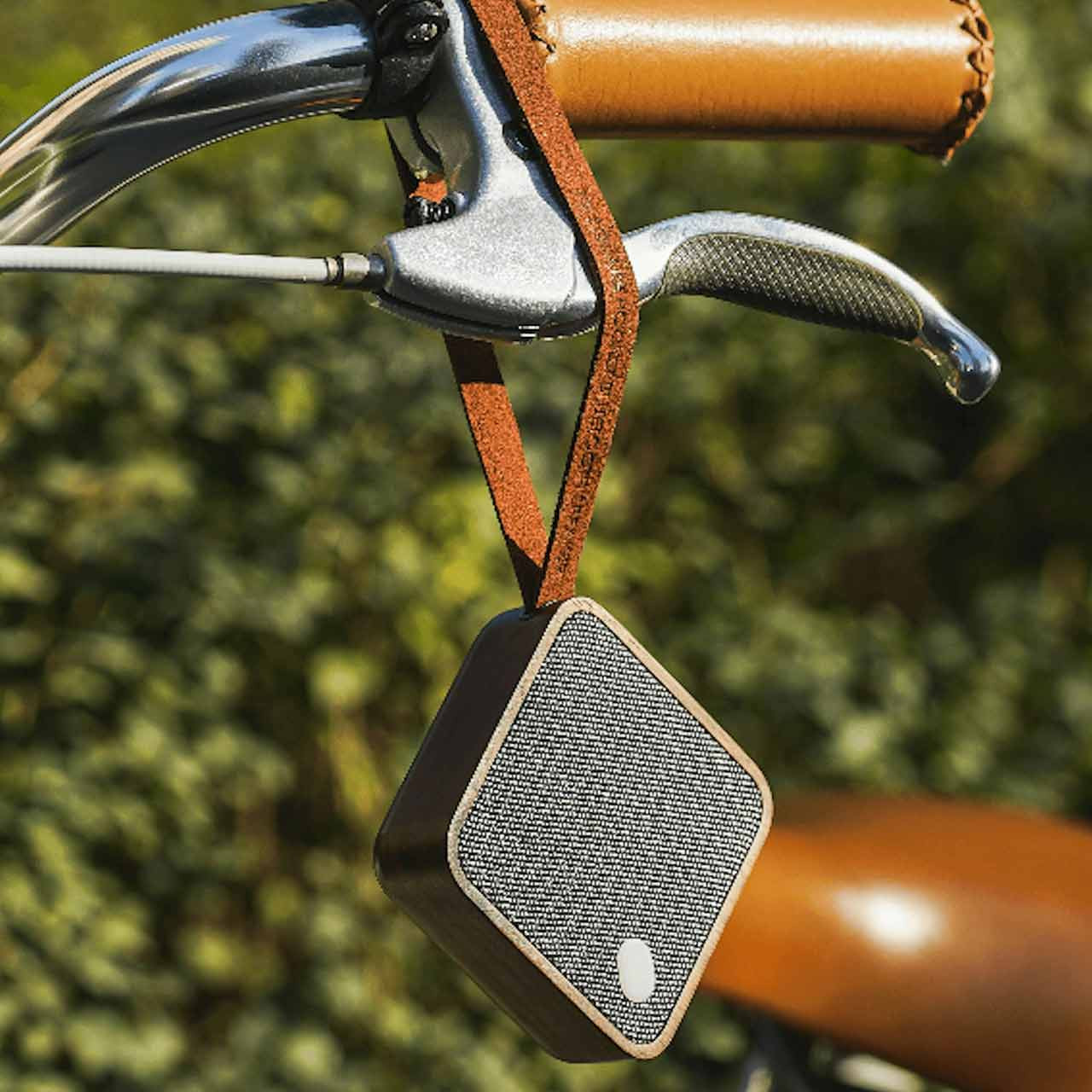 GINGKO Mi Square Pocket Bluetooth Speaker Walnut Wood | the design gift shop