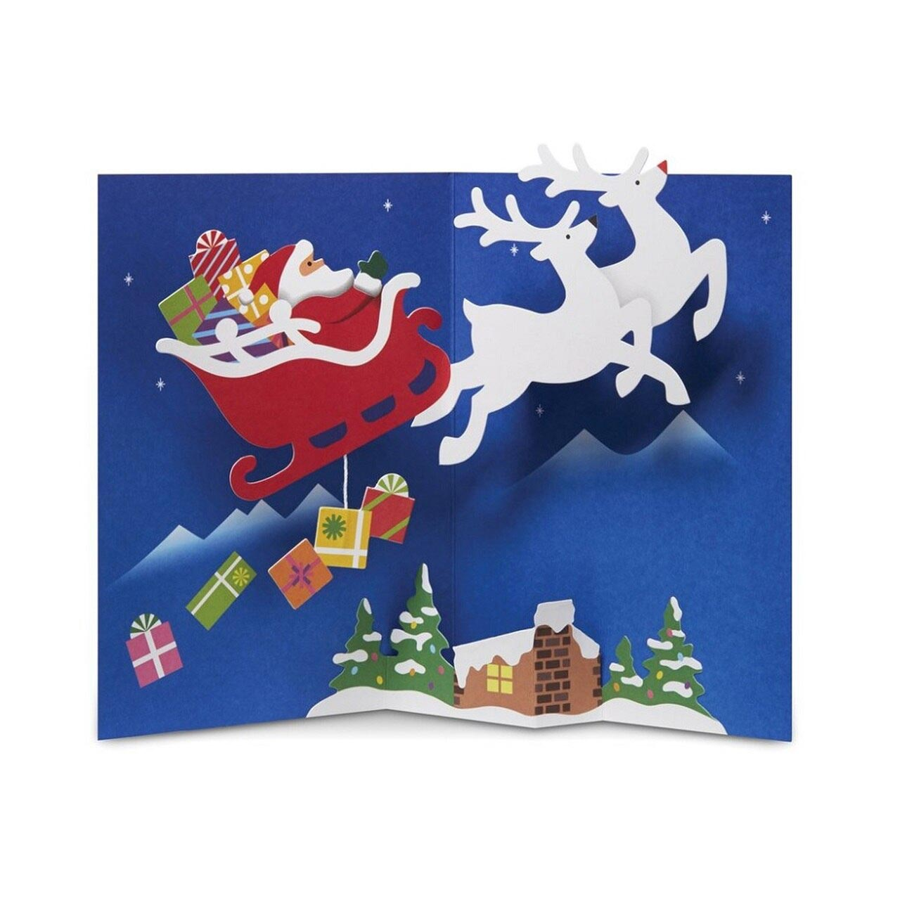 MoMA Pop-Up Holiday Cards 'North Pole Voyage' - Set of 8 | the design gift shop