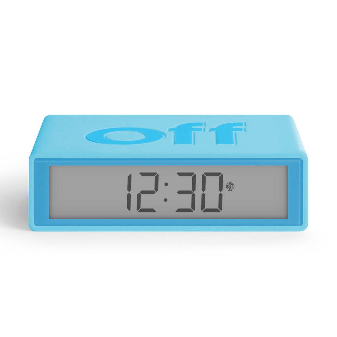 LEXON Flip+ LCD alarm clock LR150T0 turquoise   the design gift shop