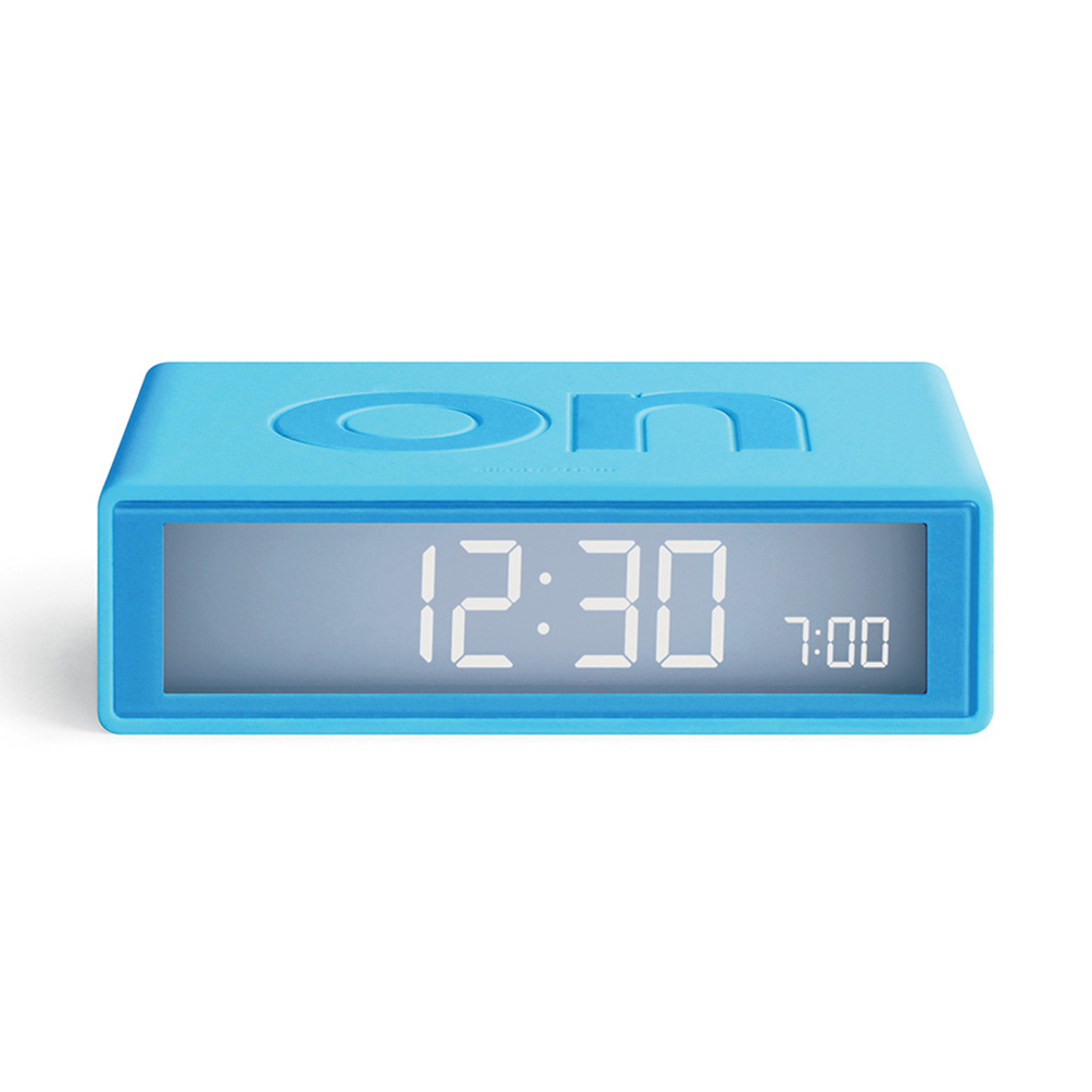 LEXON Flip+ LCD alarm clock LR150T0 turquoise | the design gift shop