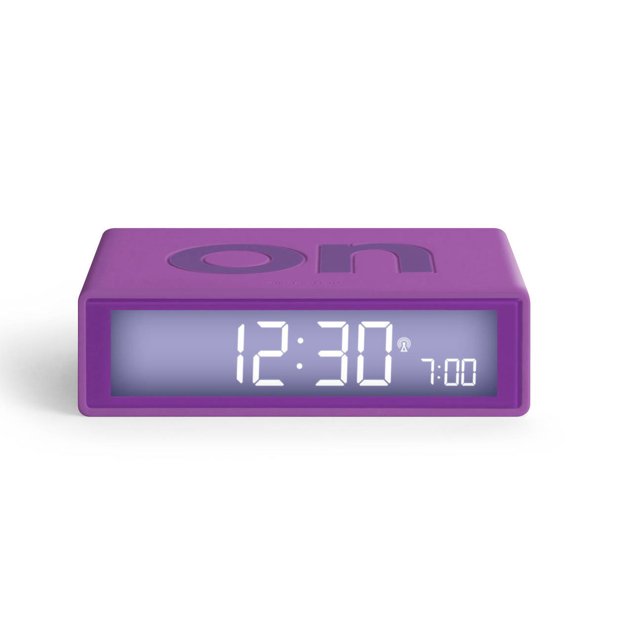 LEXON Flip+ LCD alarm clock LR150F0 purple   the design gift shop